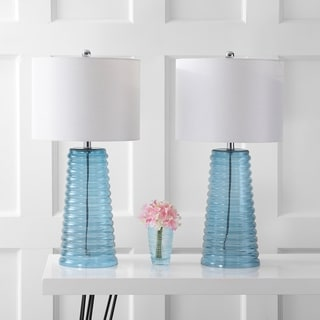 Safavieh Lighting 28-inch Yantley Blue Table Lamp (Set of 2)