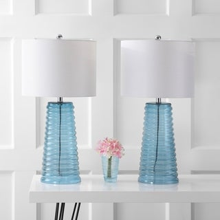 Safavieh Lighting 28-inch Yantley Blue Table Lamp (Set of 2)