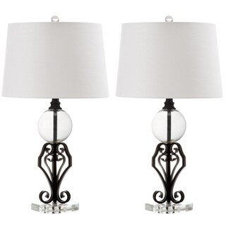 Safavieh Lighting 27-inch Anderson Clear/ Black Table Lamp (Set of 2)