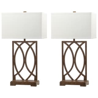Safavieh Lighting 29.5-inch Jago Antiqued Gold Table Lamp (Set of 2)
