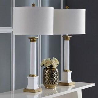Safavieh Lighting 32.5-inch Henley White/ Gold Table Lamp (Set of 2)