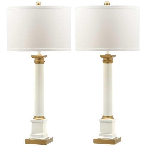Superior Safavieh Lighting 32.5 Inch Henley White/ Gold Table Lamp (Set Of 2)