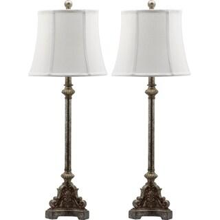 Safavieh Lighting 33.5-inch Rimini Console Antiqued Table Lamp (Set of 2)