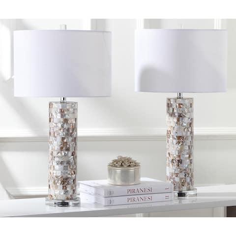 Safavieh Lighting 29-inch Boise Cream Table Lamp (Set of 2)