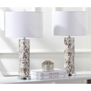"Safavieh Lighting 29-inch Boise Cream Table Lamp (Set of 2) - 15""x15""x27.5"""