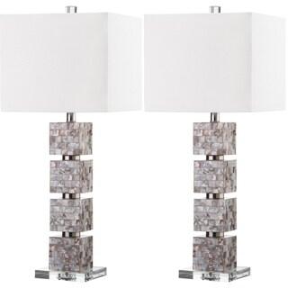 Safavieh Lighting 30.5-inch Rafferty Cream Table Lamp (Set of 2)
