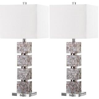 "Safavieh Lighting 31-inch Rafferty Cream Table Lamp (Set of 2) - 13""x13""x29"""