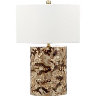 Safavieh Lighting 25-inch Zuni Brown/ Cream Table Lamp (Set of 2)