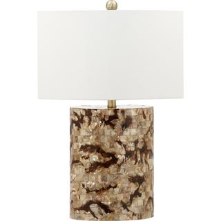 Safavieh Lighting 25-inch Zuni Brown/ Cream Table Lamp (Set of 2)