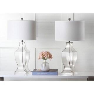 Safavieh Lighting 28.5-inch Glass Clear Bottom Lamp (Set of 2)