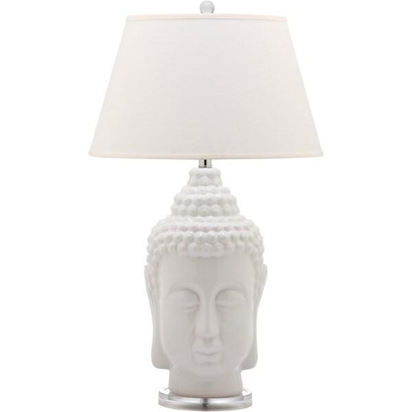 Safavieh Lighting 31 Inch Serenity White Buddha Lamp (Set Of 2)   Free  Shipping Today   Overstock.com   16707765