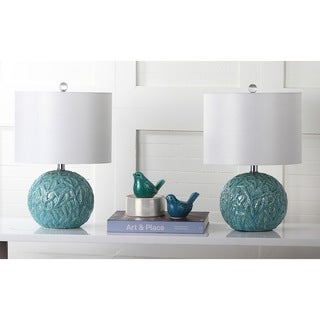 Safavieh Lighting 20-inch Robinson light Blue Table Lamp (Set of 2)
