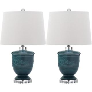 Safavieh Lighting 23.5-inch Shoal Blue Table Lamp (Set of 2)