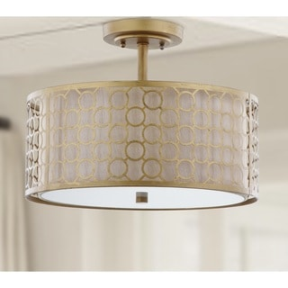 Safavieh Lighting 12.4-inches 3-light Giotta Gold Ceiling Light