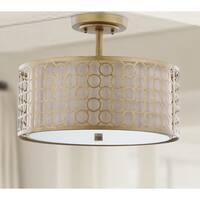 Safavieh Lighting 12.4-inches 3-light Giotta Gold Ceiling Light