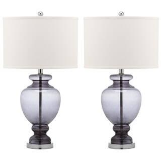 Safavieh Lighting 28-inch Grey Glass Table Lamp (Set of 2)|https://ak1.ostkcdn.com/images/products/9527391/P16707791.jpg?impolicy=medium