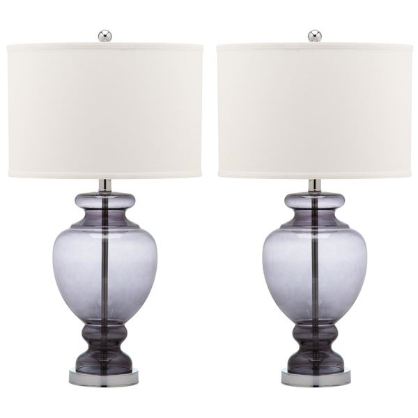 Safavieh Lighting 28-inch Grey Glass Table Lamp (Set of 2)