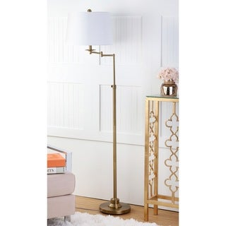 Safavieh Lighting Nadia Gold Metal 64.25-inch Adjustable Floor Lamp