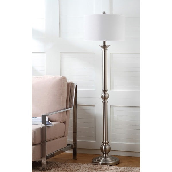 Safavieh Lighting 60-inch Theo Nickel Floor Lamp
