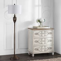Safavieh Lighting 61-inch Marion White/ Natural Floor Lamp