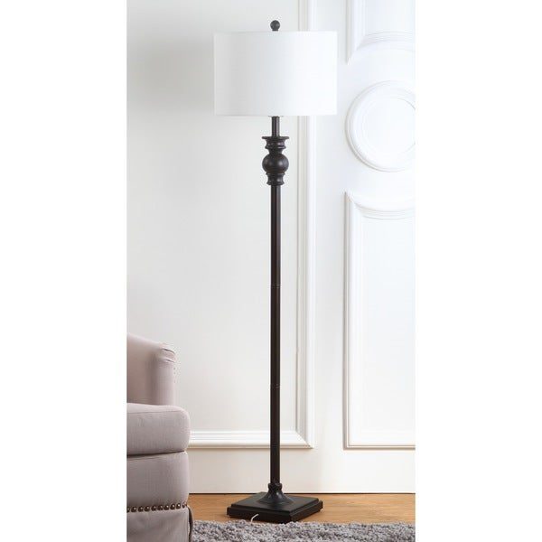 Safavieh Lighting 61-inch Alphie Ebony Floor Lamp