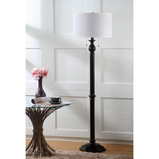 Safavieh Lighting 58.75-inch 2-light Jessie Oil-Rubbed Bronze Floor Lamp
