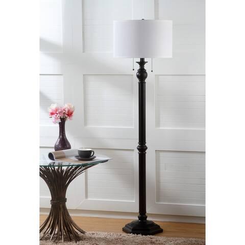 "Safavieh Lighting 59-inch Jessie Oil-Rubbed Bronze 2-light Floor Lamp - 16""x16""x58.75"""