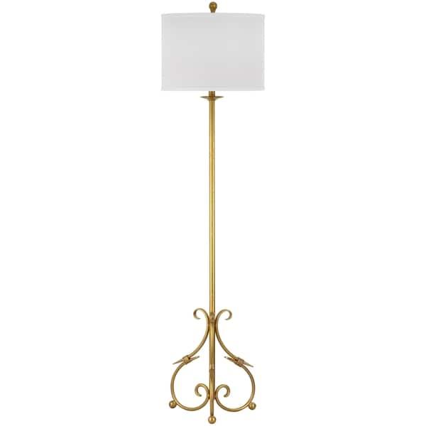 Safavieh Lighting 60-inch Elisa Baroque Antiqued Gold Floor Lamp