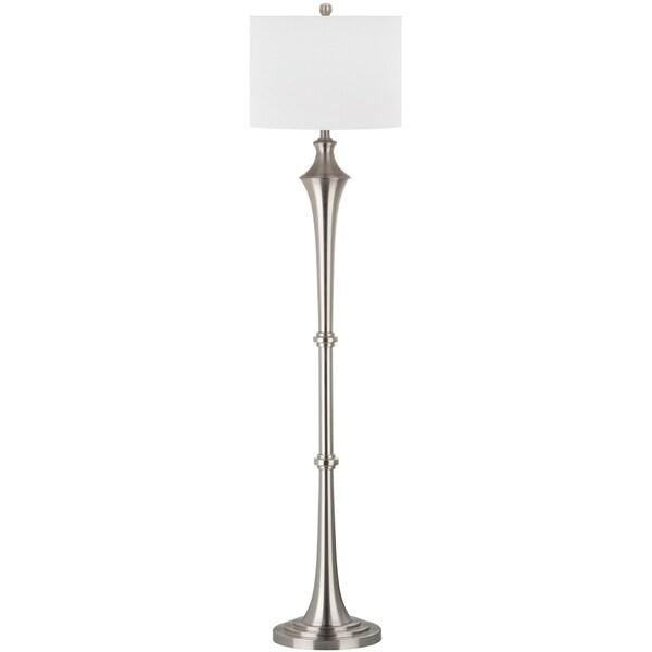 Safavieh Lighting 65-inch Chesterfield Nickel Floor Lamp