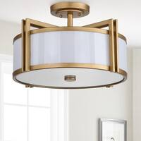 "Safavieh Lighting 10.25-inches 3-light Orb Gold Ceiling Light - 17.125"" x 17.125"" x 10.25"""