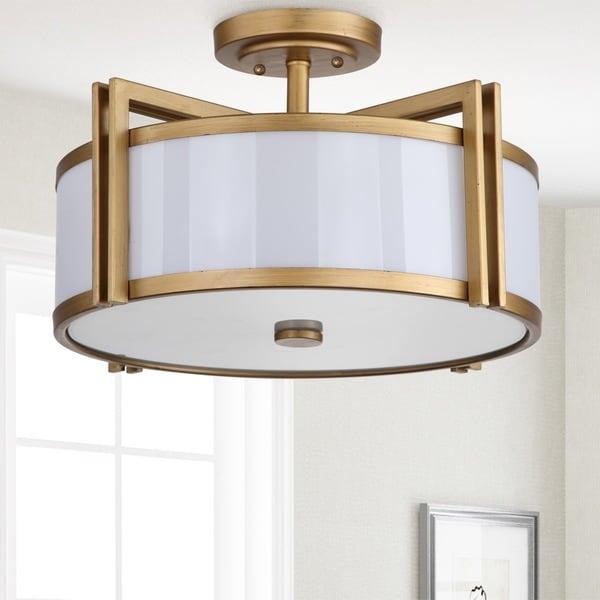 Safavieh Lighting 10.25-inches 3-light Orb Gold Ceiling Light