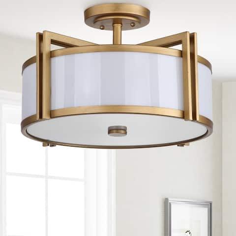 "Safavieh Lighting Orb Drum 3-light Gold Ceiling Light - 17.125""x17.125""x10.25"""