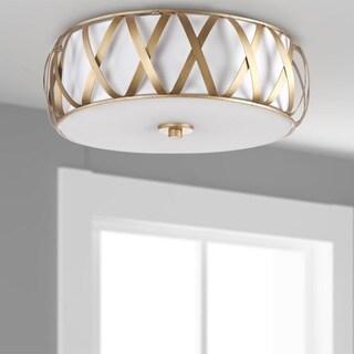 Safavieh Lighting 6.1-inches 2-light Charing Chrome Cross Ceiling Light