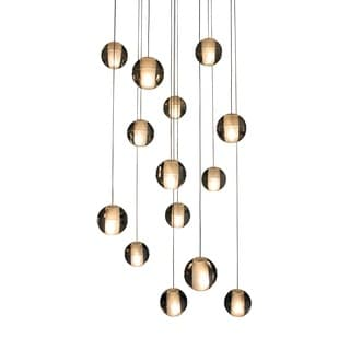 14-Light Glass Globe Bubble Pendant Chandelier