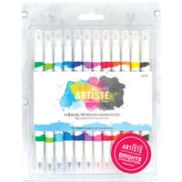 Artiste Dual Tip Brush Markers 12/Pkg-Bright