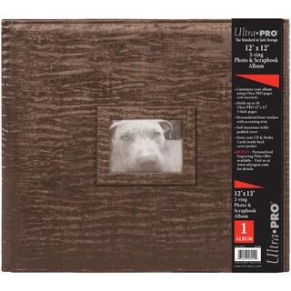 "12""X12"" 3 Ring Photo & Scrapbook Album-Brown"
