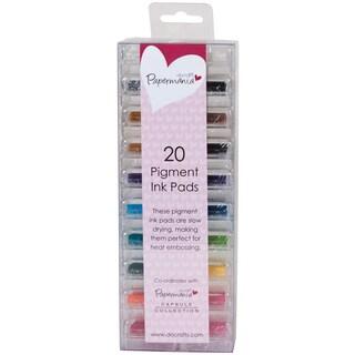 Papermania Mini Pigment Ink Pads 20/Pkg-Assorted Colors