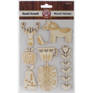 Handi Scandi Wood Veneer Shapes 8/Pkg
