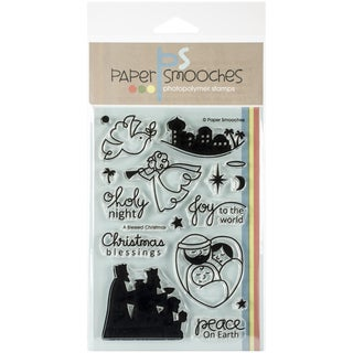 "Paper Smooches 4""X6"" Clear Stamps-A Blessed Christmas"