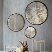 Ren Wil Shire Antique Silver Mirror (Set of 3)