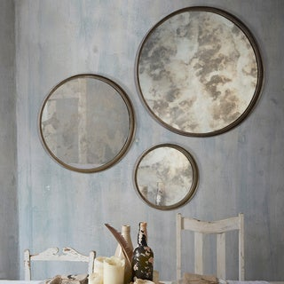 Ren Wil Shire Antique Silver Mirror (Set of 3)