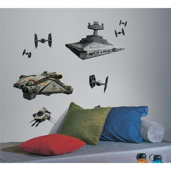 star wars rebel imperial ships peel and stick giant wall decals free shipping on orders over. Black Bedroom Furniture Sets. Home Design Ideas