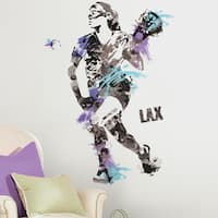 Women's Lacrosse Champion Peel and Stick Giant Wall Decals