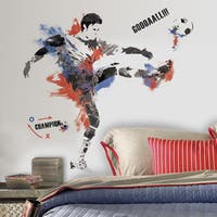 Men's Soccer Champion Peel and Stick Giant Wall Decals