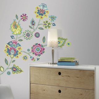 Boho Floral Peel and Stick Giant Wall Decals