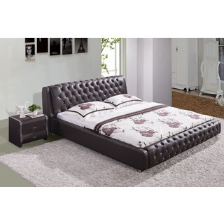 Samuel Chocolate Contemporary Platform Bed