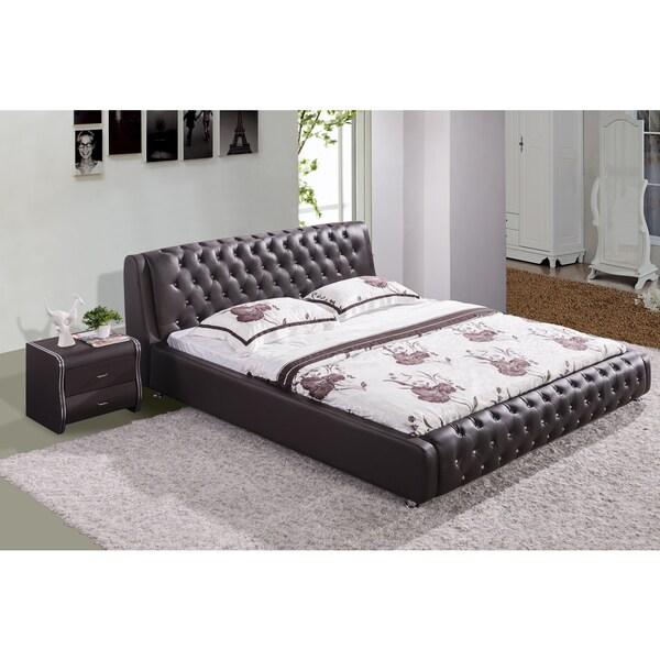 Samuel Chocolate Contemporary Platform Bed