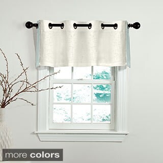 Grand Luxe 100 Percent Linen Central Park Grommet Valance (As Is Item)