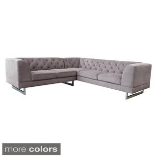 DG Casa Dark Raisin Allegro Sectional Sofa