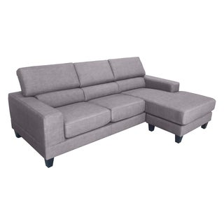 DG Casa Chocolate Brown Torino Sectional Sofa
